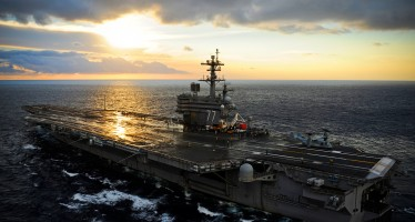 George H.W. Bush is in the Atlantic Ocean conducting carrier qualifications.