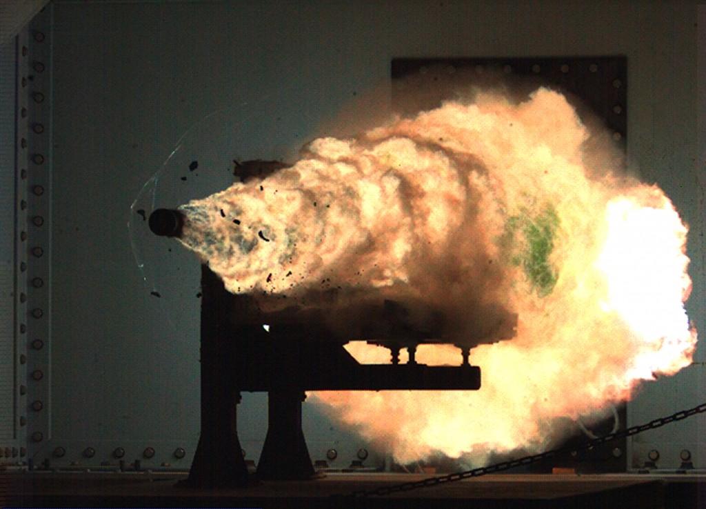 ONR 32MJ electromagnetic railgun (EMRG)