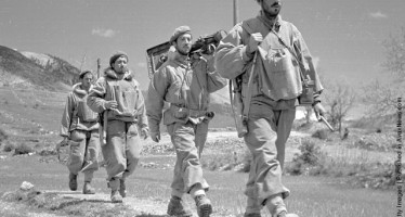 A band of Greek army commandos on the move during the Greek Civil War 2