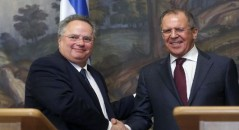 Russian and Greek Foreign Ministers meeting