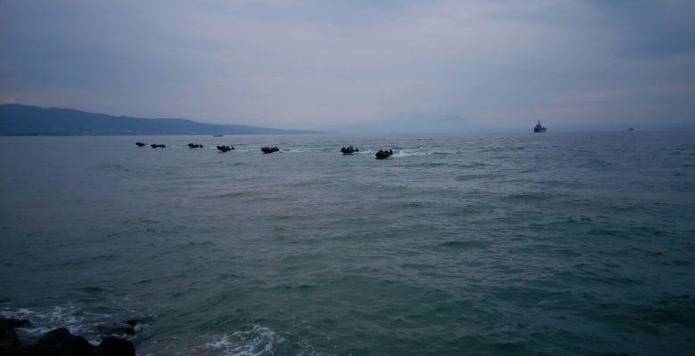Συναγερμός σήμανε το πρωί στο κόλπο Ορφανού της παραλίας των Βρασνών. (ΣΑΡΙΣΑ 2016 φώτο)