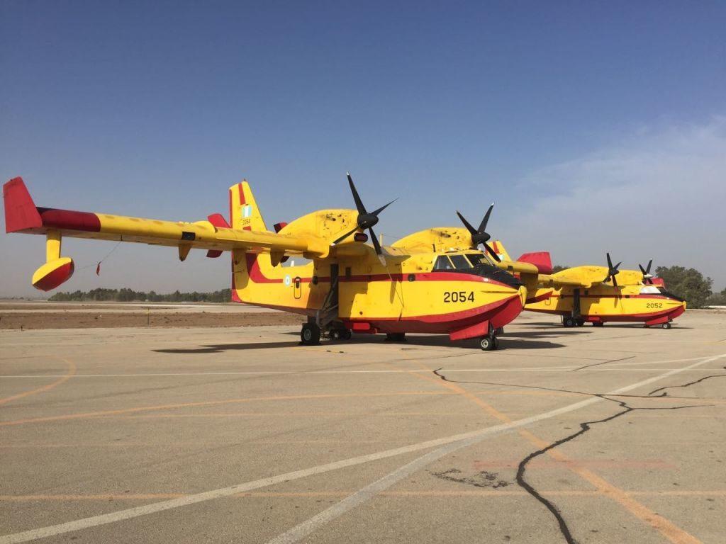 Έφτασαν και Επιχειρούν ήδη τα Ελληνικά «CL-415» της 113ΠΜ στο Ισραήλ! (φώτο)…Ύμνους στην ΠΑ από τον Gilad Erdan!