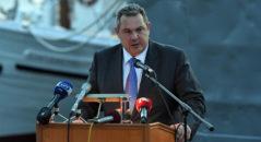 (Ξένη Δημοσίευση) Ο υπουργός Εθνικής Άμυνας Πάνος Καμμένος μιλάει στην εκδήλωση μνήμης και τιμής για το Αντιτορπιλικό «Βέλος» και το Κίνημα του Ναυτικού, την Δευτέρα, 22 Μαΐου 2017. ΑΠΕ-ΜΠΕ/ΓΡΑΦΕΙΟ ΤΥΠΟΥ ΥΠΕΘΑ/STR