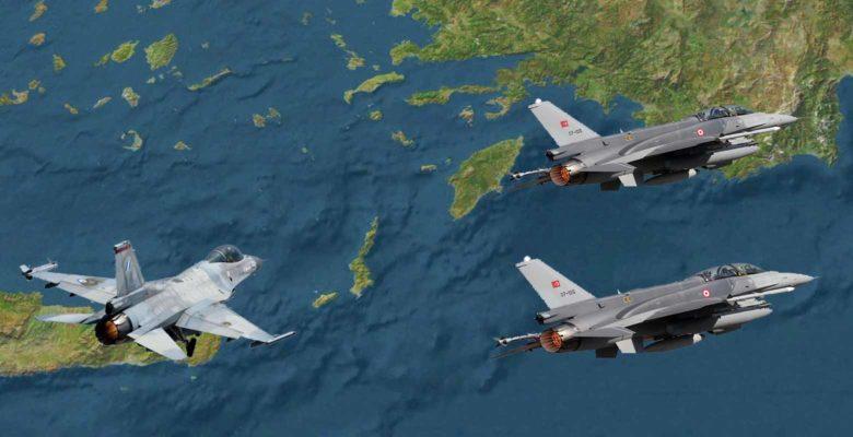 Απιστεύτο..Ελληνικό F-16 ενεπλάκη με ζεύγος Τουρκικών μαχητικών νότια της Ρόδου