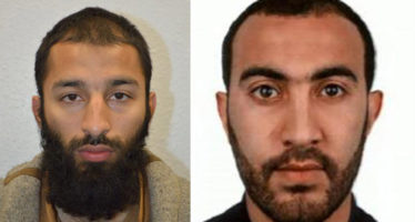 epa06012303 An undated handout photo made available on 05 June 2017 by Britain's London Metropolitan Police Service (MPS) showing Khuram Shazad Butt (L) and Rachid Redouane (R) two of the men shot dead by police following terrorist attack in London on 03 June 2017. At least seven members of the public were killed and dozens injured after three attackers on late 03 June ploughed a van into pedestrians and later randomly stabbed people on London Bridge and nearby Borough Market. The three attackers wearing fake suicide vests were shot dead by police.  EPA/LONDON METROPLITAN POLICE/ HANDOUT  HANDOUT EDITORIAL USE ONLY/NO SALES HANDOUT EDITORIAL USE ONLY/NO SALES