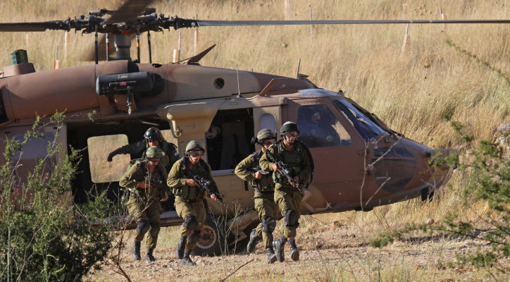 A UH-60 Blackhawk helicopter unload 669 Search & Rescue crew, May 28, 2013. Photo by Ofer Zidon/Flash90 *** Local Caption *** ???? ??? ????? ??? ?????? ????? ????? 669