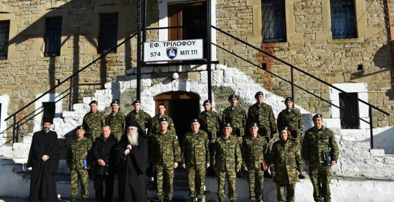 Επίσκεψη του Α' ΓΕΣ Αντιστράτηγου Στεφανή στις εγκαταστάσεις του ΕΦ Τριλόφου