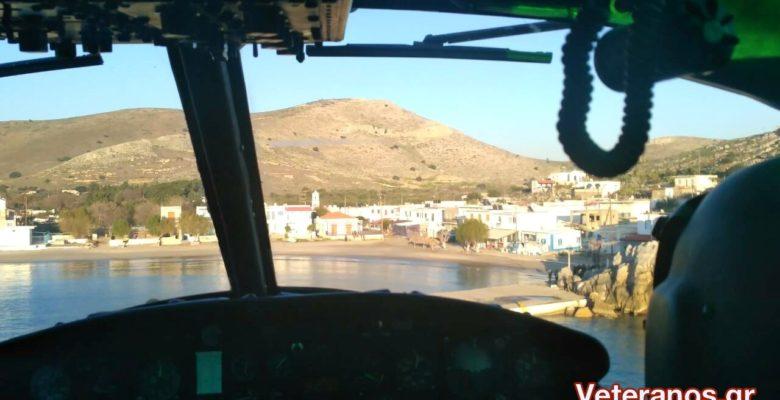 Στη Ψέριμο με Χιούι (UH-1H Huey ) της Α.Σ ο Πρωθυπουργός και ο ΥΕΘΑ! ( Αποκλειστικές Φώτο & video)
