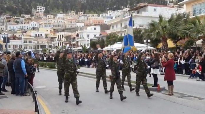 «Περνάει ο Στρατός» & χειροκροτεί με δάκρυα στα μάτια ο Λαός…Στο νησί της Καλύμνου (φωτό &video)