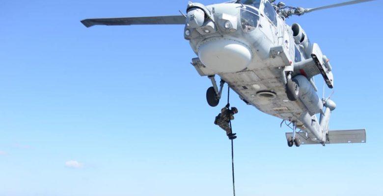 «Αεροαπόβαση» Κομάντος των Ελληνικών Ειδικών Δυνάμεων στη Φρεγάτα «Λήμνος» FOCOPS 19-1