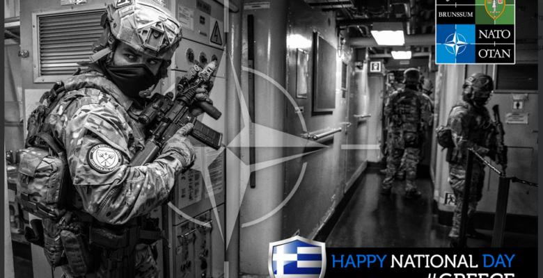 «Happy Greek Independence Day»…Ευχές απο το ΝΑΤΟ με φώτο των Ελληνικών ΟΥΚ