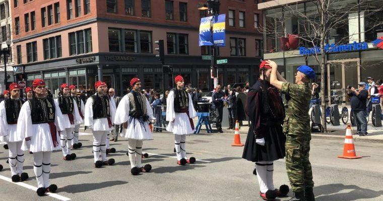 Τμήμα Ομογενών Ευζώνων στην… Παρέλαση της Βοστώνης…(video)