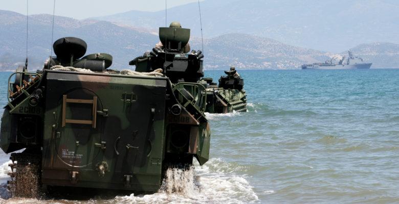 Τα Αμφίβια Τεθωρακισμένα «AAV7A1″ στην 32 ΤΑΞ-ΠΖΝ…Η Ελληνική απάντηση στα Τούρκικα «AAV7»