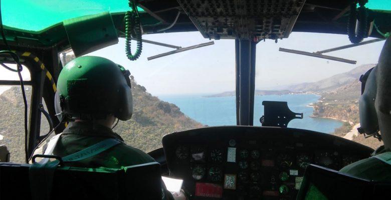 Η «Πολεμική» πτήση του Ε/Π «Huey» …Στην Κοιλάδα των Τεμπών (video)