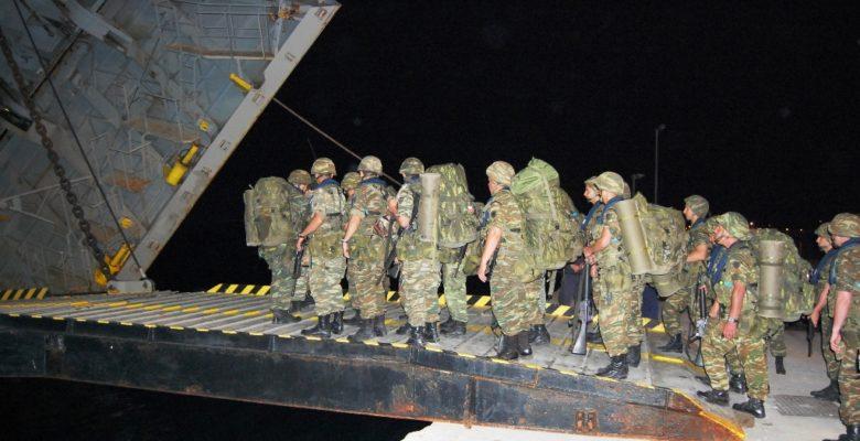 Η «Καταιγίδα χτύπησε και στον Παγασητικό» …Αρματαγωγά του ΠΝ κόβουν βόλτες στα ανοιχτά
