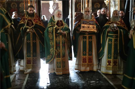 Αγρυπνία στο Βατοπαίδι  Ευχές για τον Κορωνοϊό 2