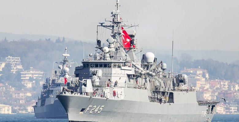 Δεν πέρασε ο Τουρκικός τσαμπουκάς …Εικόνες αποχώρησης των Τουρκικών Πολεμικών Σκαφών