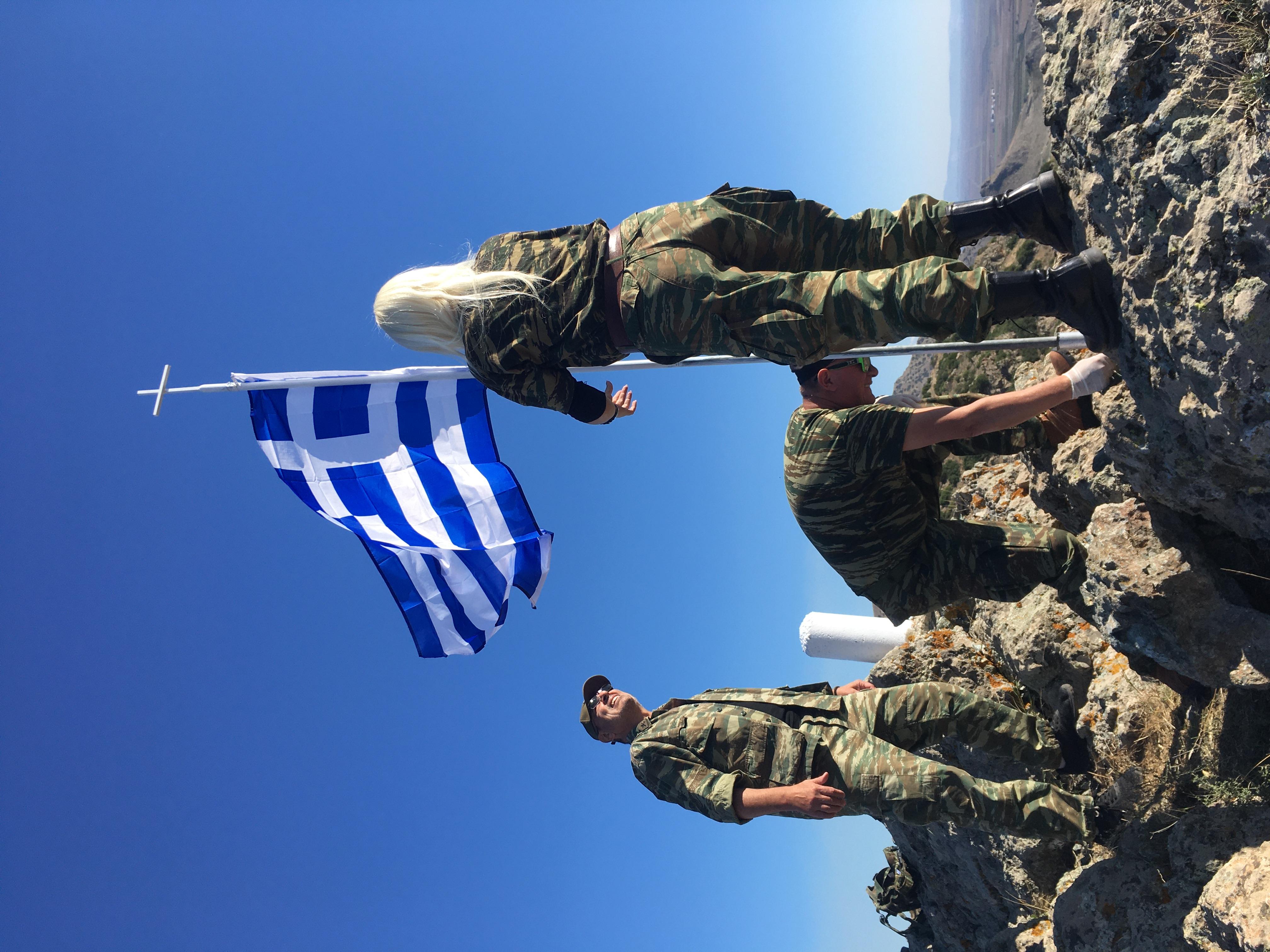 Τοποθέτηση νέου ιστού Σημαίας  στο Γκιντίκι από Εφέδρους της Λάρισας 3
