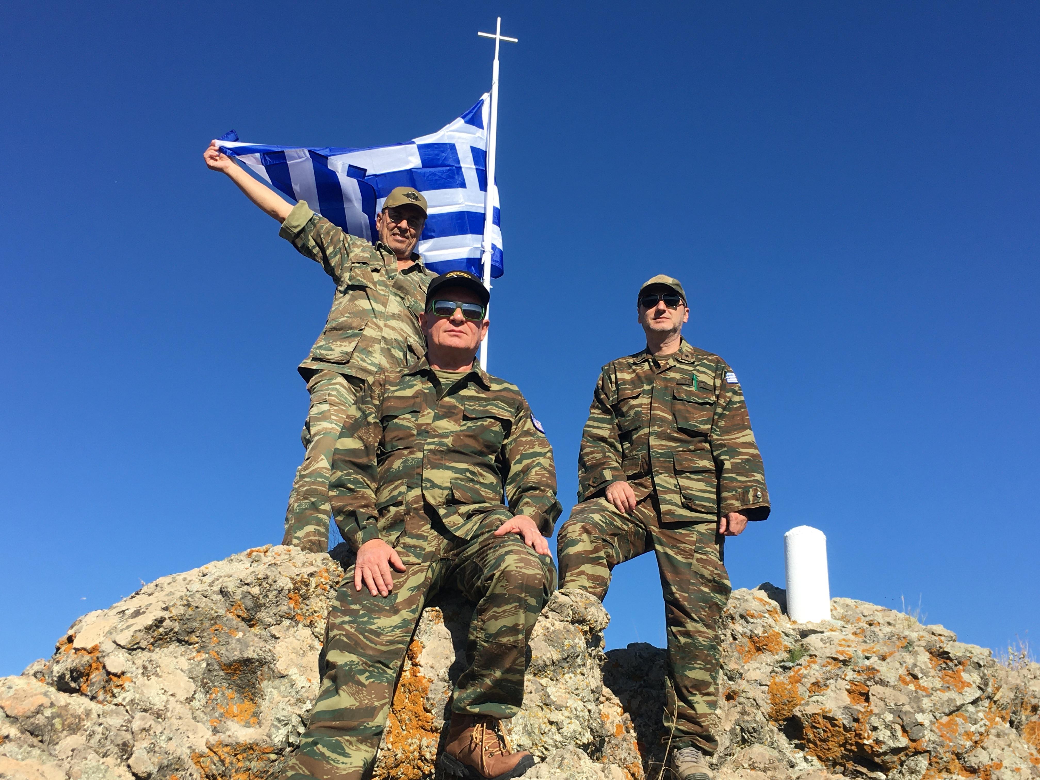 Τοποθέτηση νέου ιστού Σημαίας  στο Γκιντίκι από Εφέδρους της Λάρισας 2