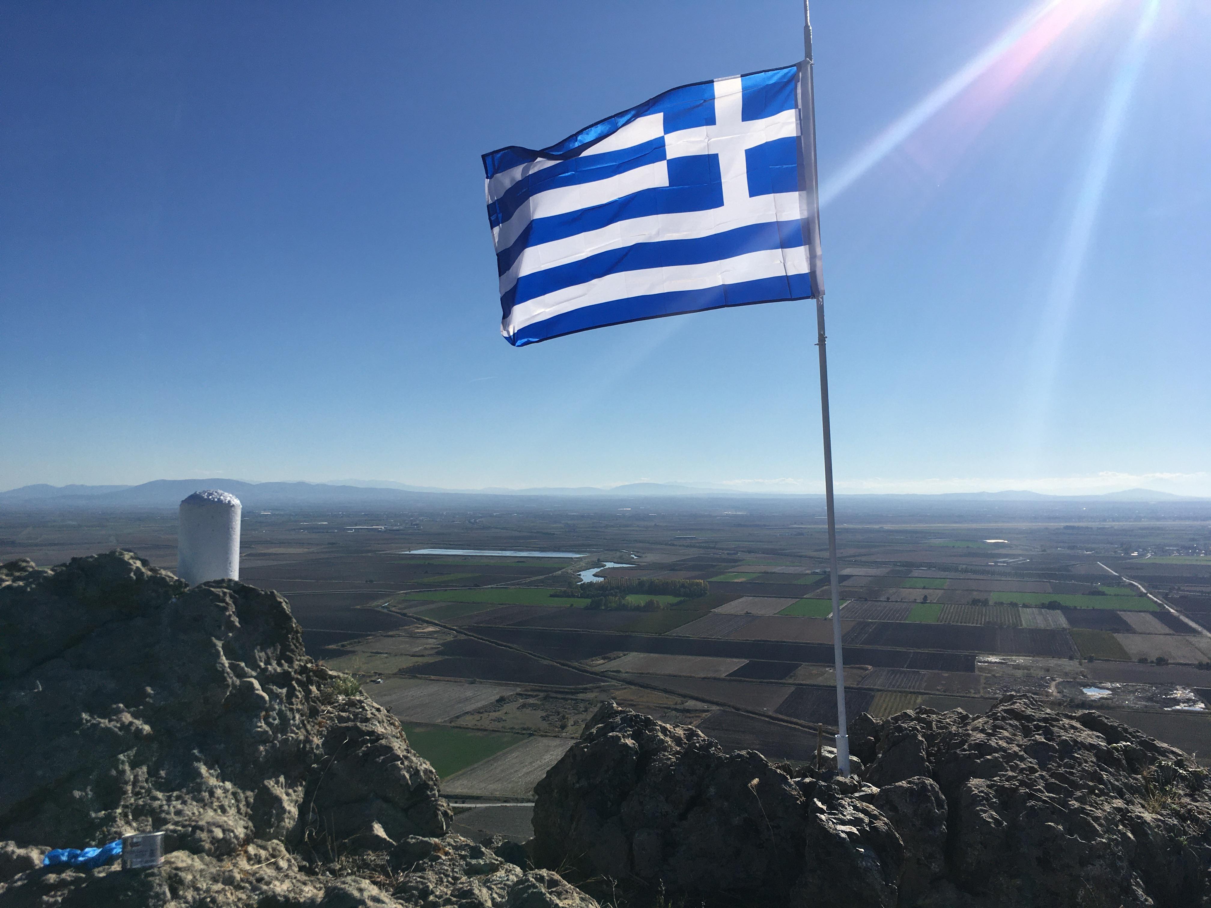 Τοποθέτηση νέου ιστού Σημαίας  στο Γκιντίκι από Εφέδρους της Λάρισας 1
